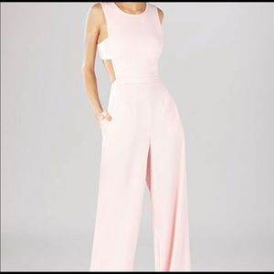 NWT BCBG Rossana Cutout Jumpsuit In Pink Sz 2